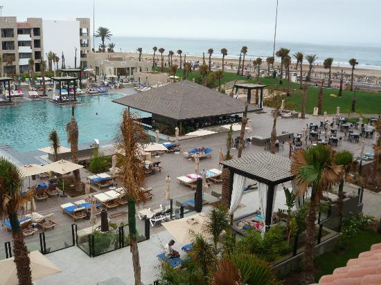 Hotel Riu Palace Tikida Agadir : view of the pool and beds