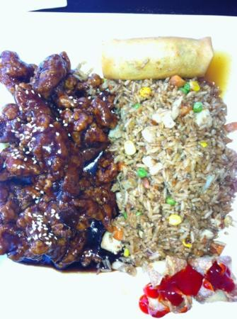 Exclamation Restaurant: Orange chicken entree dinner
