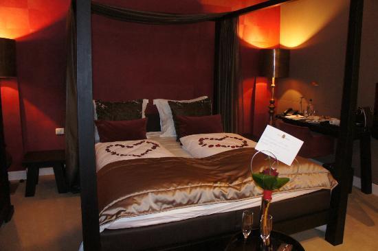 Hotel Merici: Het bed