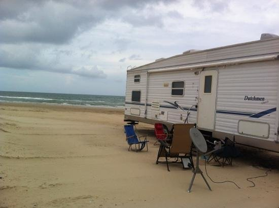 "South Padre Island, TX: ""roughing it"" north of Andy Bowie beach"