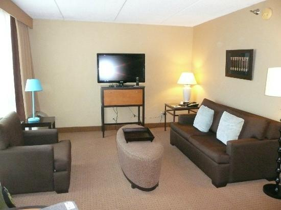 DoubleTree by Hilton Chicago - Arlington Heights: Living room in the suite
