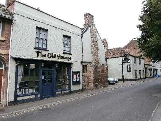 The Old Vicarage: outside the public restaurant entrance