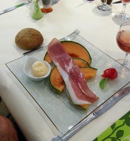 Le Pikassiette: Rafraichissant notre parme et melon