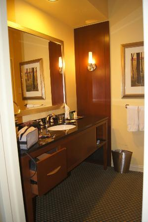 Hilton Houston Post Oak: Vanity area!