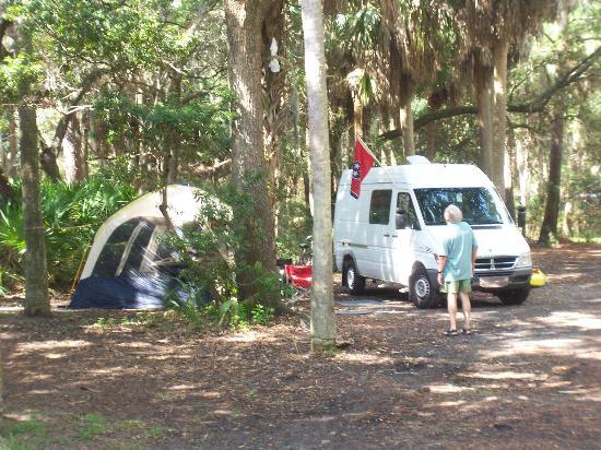 Campsite at Hunting Island State Park