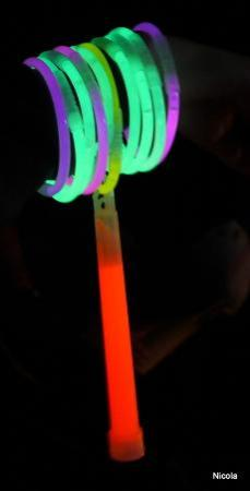 The Orchard Campsite: Glow sticks after dark