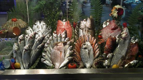 Vesta Restaurant: Fresh fish served daily.