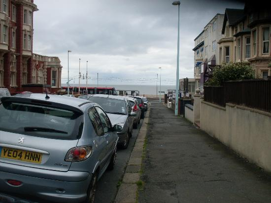 Brownes hotel: The view of the sea from outside the hotel