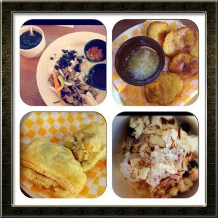 Sweet Spot : pork, tostones, froyo, jamaican empanadas