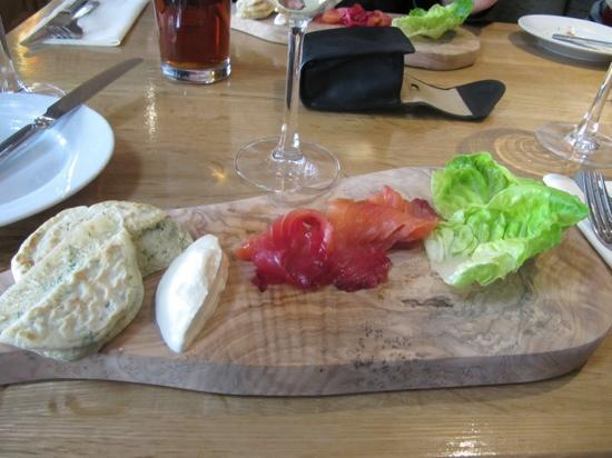 The Charles Dickens Copperfields Restaurant & Bar: beetroot cured salmon