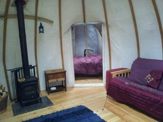 Wild In Style : Double yurt birch, view from door