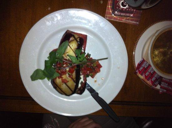 Lieutenant's Pump : Grilled eggplant 'steak'