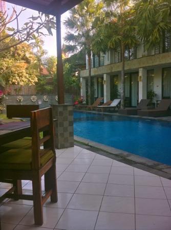 Puri Maharani Boutique Hotel & Spa: vue depuis le restaurant de l'hôtel !