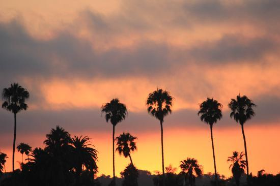 Cheshire Cat Inn: Sunset from Santa Barbara pier