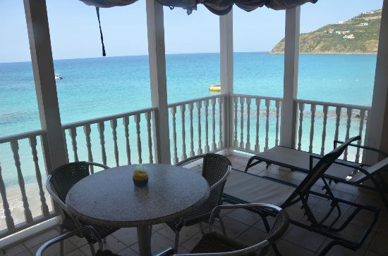 Divi little bay beach resort 1st balcony of 2 in room 407 building b