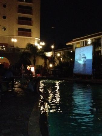 Doubletree by Hilton Orlando at SeaWorld: movie in the pool