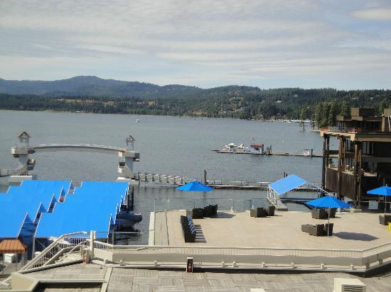 The Coeur d'Alene Resort: View from first floor