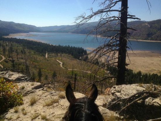 Wilderness Trails Ranch: Day one ride, overlooking Vallecito Lake