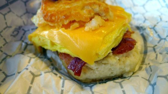 Bacon, Egg and Cheese biscuit at Chick-fil-A
