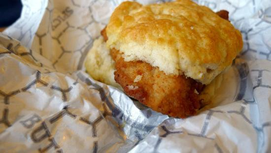 Classic chicken biscuit at Chick-fil-A