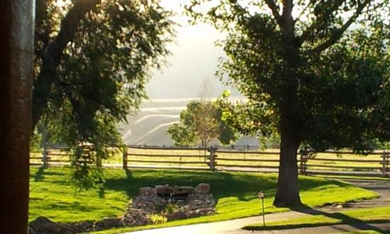 The Hideout Lodge & Guest Ranch: A View From the Cabin's Front Porch