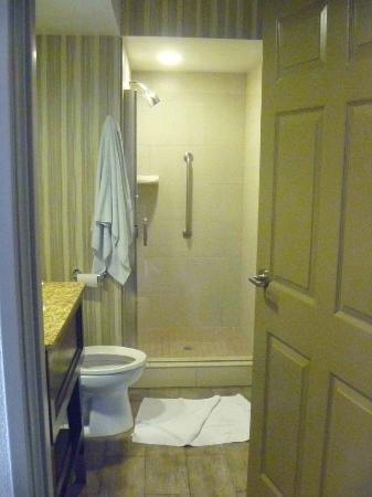Embassy Suites by Hilton Mandalay Beach Resort: first bathroom w/ shower