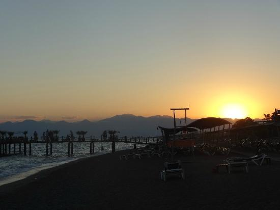 Club Mega Saray: Sunset on the beach