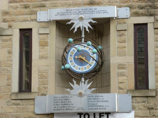 Croft Mill: The clock at Hebden Bridge