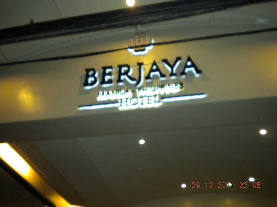 Berjaya Makati Hotel - Philippines: Berjaya logo at entrance