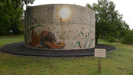 E.C. Hafer Park: Interesting climbing wall at Hafer Park