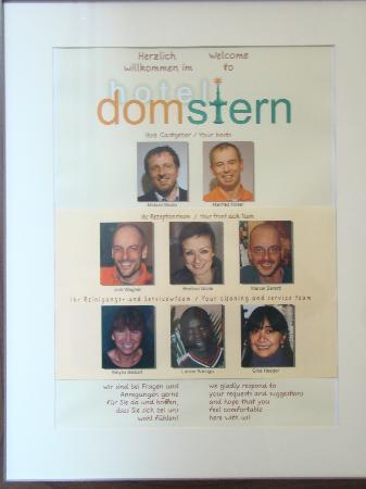 Hotel Domstern: Domstern Precious Staff!