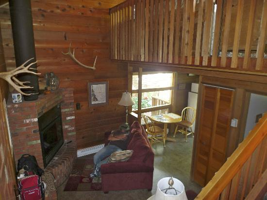 The Canyon Wren - Cabins for Two: Living Area in Wild Rose