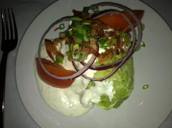 Theo's: wedge salad