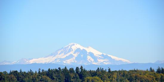 Willows Inn: Mount Baker from the Lummi Island ferry dock