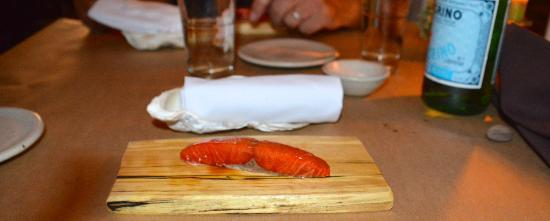 Willows Inn: A perfectly smoked piece of sockeye salmon