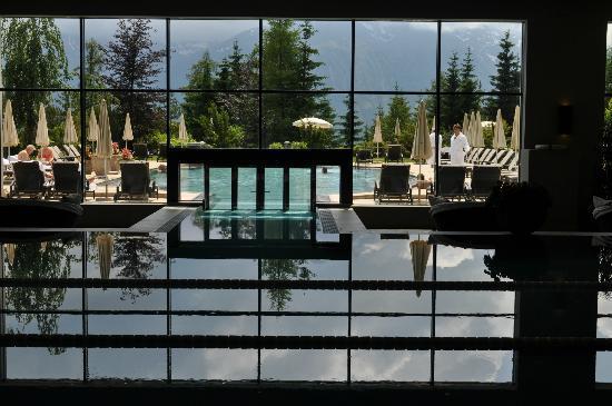 Interalpen-Hotel Tyrol: Spa view 