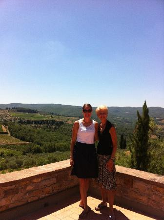 Tuscan Tour Time: Beautiful Scenery from the terrace at the winery