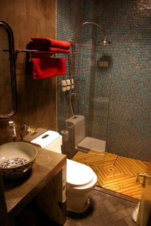 Hotel Cote Cour Beijing: Bathroom with large walk in shower