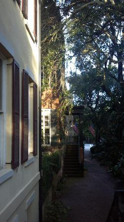 Eliza Thompson House Savannah: A view from the door.