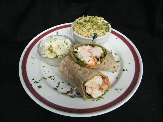 New England Eatery & Pub: Lobster Wrap..a new england tradition with a healthier twist