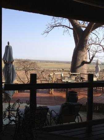 Ngoma Safari Lodge: on the deck