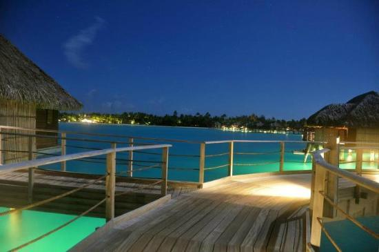 Four Seasons Resort Bora Bora: Night shot