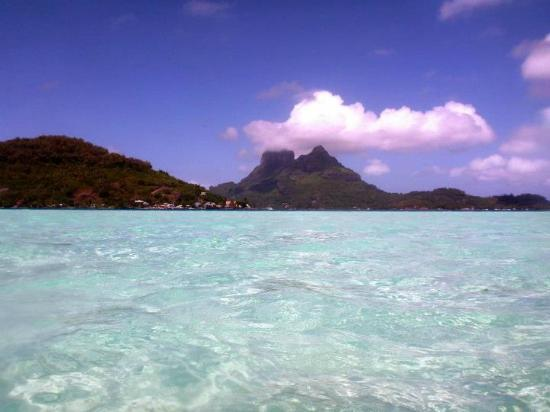 Four Seasons Resort Bora Bora: View from sandbar