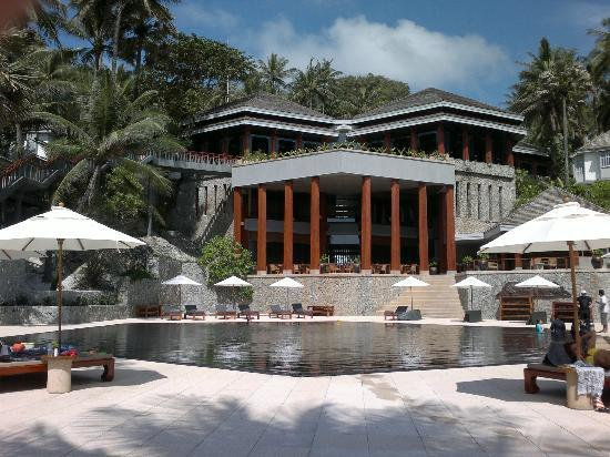 The Surin Phuket: Main Hotel from pool