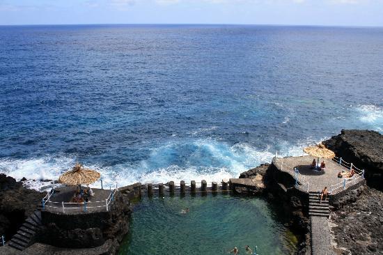 San Andres y Sauces, Spanien: Meerwasserschwimmbecken