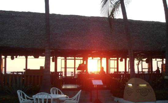 Cilantro's: View through the restaurant at sunset (from pool)