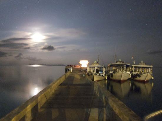 Wakatobi Dive Resort: Wakatobi jetty moonrise