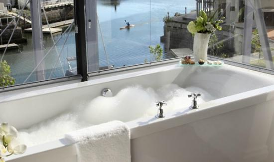 The Turbine Boutique Hotel and Spa: view from Infinity bathroom