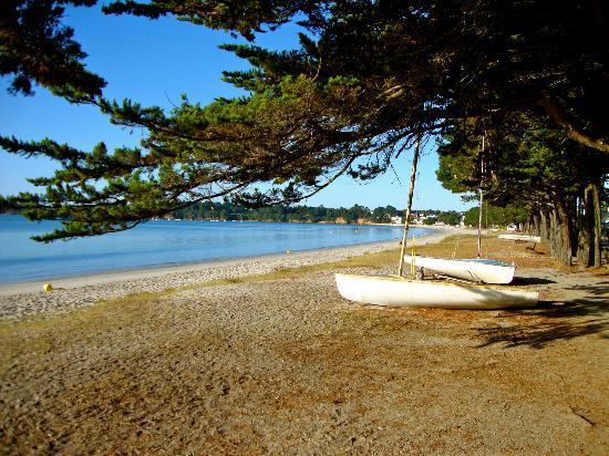 Hotel de la Pointe : plage devant l'hôtel