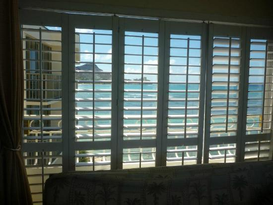 Waikiki Shore: View of Diamond Head from 'futon room'.